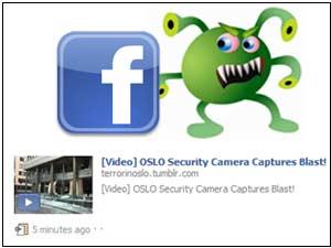 Oslo bombing scam on Facebook
