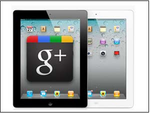 Google Plus app on iPad