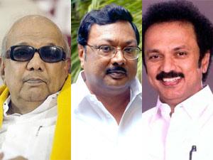 Karunanidhi-MK Stalin-MK Azhagiri
