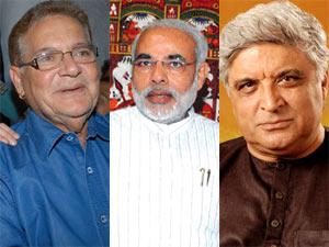 Salim Khan, Narendra Modi, Javed Akhtar