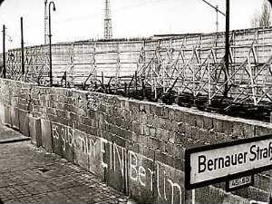 Berlin Wall before it was demolished