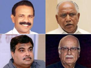 Sadananda Gowda, BS Yeddyurappa, Nitin Gadkari and LK Advani