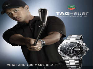 Tag Heuer and Tiger Woods