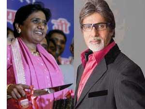 Amitabh Bachchan and Mayawati
