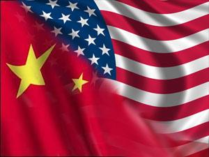 China-USA flag