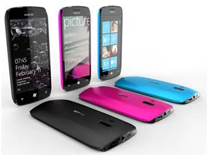 Nokia WP7 smartphones