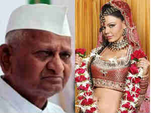 Anna Hazare and Rakhi Sawant