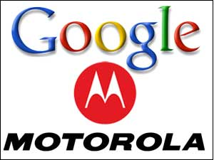 Google and Motorola logos