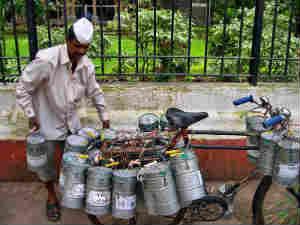 A Dabbawala in Mumbai