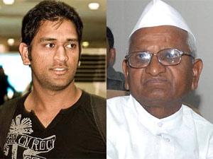 MS Dhoni and Anna Hazare