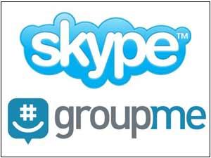 Skype and GroupMe logos