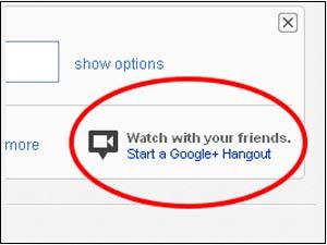 Google Plus Hangout on YouTube