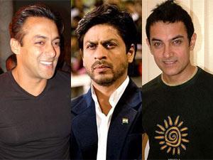 Bollywood Khans-Salman-Shahrukh-Aamir
