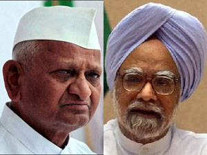 Anna Hazare-Manmohan Singh