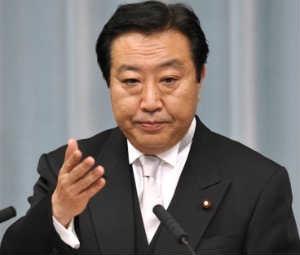 Japan's Finance Minister Yoshihiko Noda