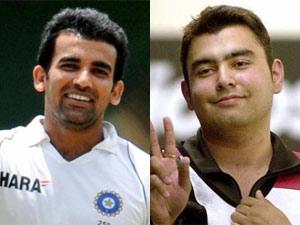Zaheer Khan and Gagan Narang