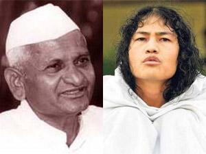 Anna Hazare-Irom Sharmila