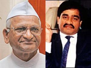 Anna Hazare and Dawood Ibrahim