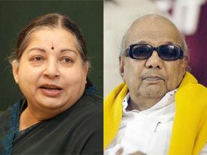 Jayalalithaa and M Karunanidhi