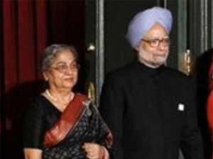 Prime Minister Manmohan Singh and his wife Gursharan Singh