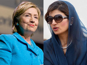 US Secretary of State Hillary Clinton-Pakistani counterpart Hina Rabbani Khar