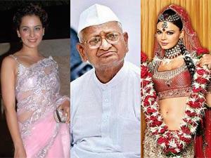 Kangana Ranaut, Anna Hazare and Rakhi Sawant
