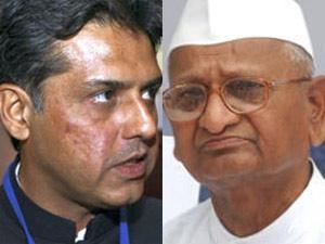 Manish Tiwari and Anna Hazare