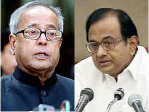 Pranab Mukherjee and P Chidambaram