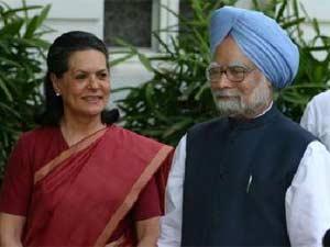 Prime Minister Manmohan Singh and Congress President Sonia Gandhi