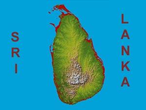 Sri Lankan map