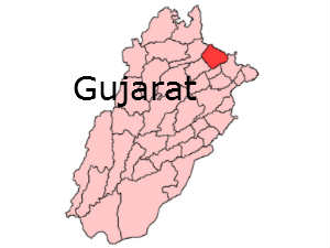 District map of Gujarat