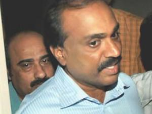 Karnataka minister Gali Janardhana Reddy and managing director of Obulapuram Mining Company (OMC) Srinivas Reddy