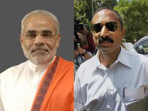 Narendra Modi and Sanjeev Bhatt