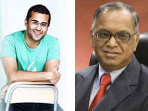 Cheatan Bhagat and Narayana Murthy