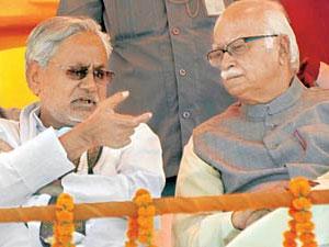 Nitish Kumar and LK Advani