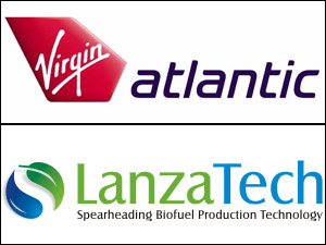 Virgin Atlantic and LanzaTech logo