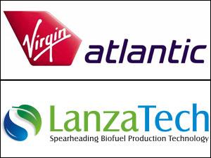 Virgin Atlantic and LanzaTech logo