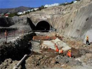 JK: Railway tunnel under construction