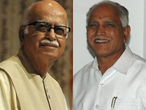 LK Advani and BS Yeddyurappa