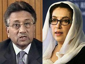 Pervez Musharraf and Benazir Bhutto
