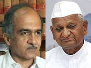 Prashant Bhushan and Anna Hazare