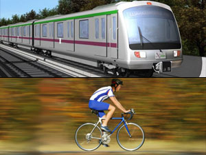 Metro and Bicycle