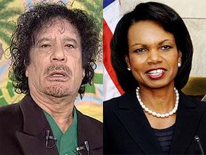 Muammar Gaddafi - Condoleezza Rice