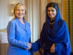 Hillary Clinton and Hina Rabbani Khar