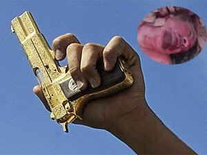 Muammar Gaddafi's golden gun