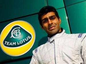 Team Lotus F1 driver Karun Chandhok