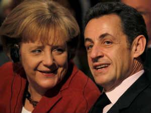German Chancellor Angela Merkel and French President Nicolas Sarkozy