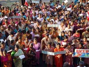 Protest against Koodankulam Nuclear Power Plant