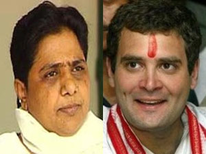 Mayawati and Rahul Gandhi