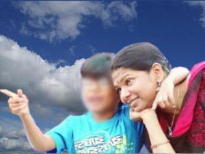 Kanimozhi with son Aditya
